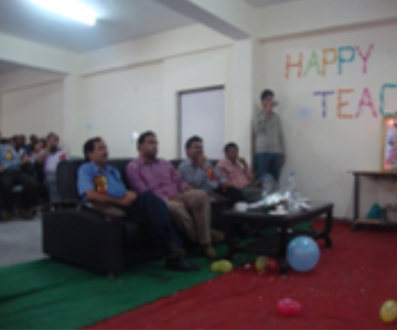 Manav Bharti University-teachers enjoying teacher's day